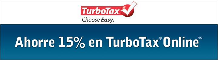 Ahorre un 15% en Productos Federales de TurboTax Online(SM)